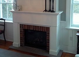 Custom fire place casing