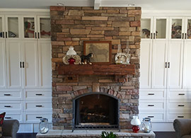 Ledge over fireplace